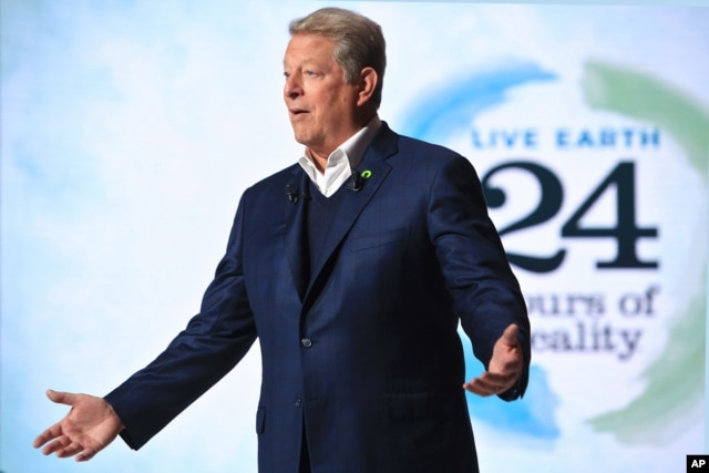 FILE - Former U.S. Vice President Al Gore, pictured in Nov. 13, 2015, was the keynote speaker at the U.N.-hosted Investor Summit on Climate Risk on Wednesday.