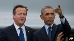 美國總統奧巴馬和英國首相卡梅倫。(資料圖片)