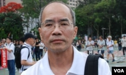 香港時事評論員劉銳紹。(VOA-IRIS TONG)
