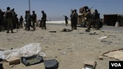حدود دو ماه پیش طالبان ولسوالی قلعۀ زال را تصرف کرده بودند