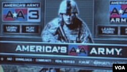 Početna stranica serije video-igara za potrebe američke armije