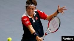 Petenis Jepang, Kei Nishikori memasang target untuk masuk peringkat 10 besar dunia tahun depan (foto: dok).