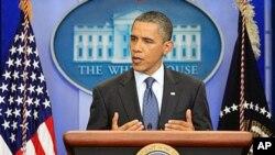奧巴馬指出兩黨必須妥協。