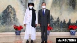 中國外長王毅今年7月在天津會晤塔利班代表