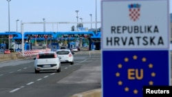 Perbatasan Kroasia di Bregana, Kroasia, 1 Juli 2013. (Foto: dok).