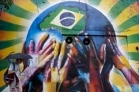 World Cup mural.