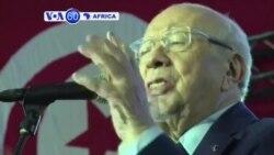 VOA60 Afirka: 'Yan Takarar Shugabancin Kasa Na Cigaba Kamfen, Tunisiya, Disamba 15, 2014