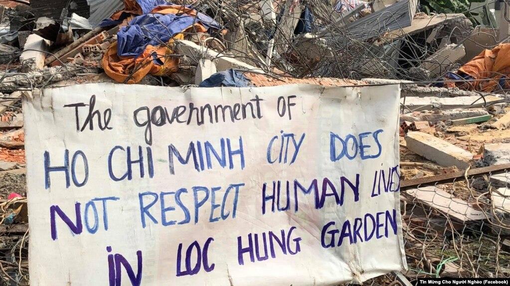 Cưỡng chế Vườn rau Lộc Hưng.
