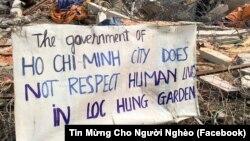 ... và dân oan vẫn tiếp tục đòi hỏi công lý trong vụ cưỡng chế Vườn rau Lộc Hưng. Hình minh họa.