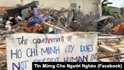 Chính quyền cưỡng chế Vườn rau Lộc Hưng
