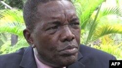 Le porte-parole André-Alain Atundu à Kinshasa, le 20 décembre 2016.