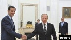 Sirijski predsednik Bašar al Asad tokom susreta sa ruskim predsednikom Vladimirom Putinom u Kremlju