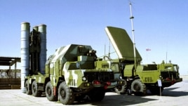Russian S-300 anti-aircraft missile system is on display in an undisclosed location in Russia (file photo)
