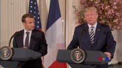 川普與馬克龍尋求解決分歧、鞏固關係