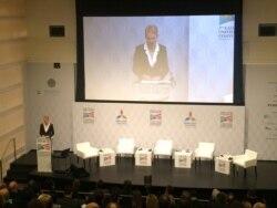 Celeste Wallander, Special Assistant to President Obama, speaks at Kazakhstan-US Convention