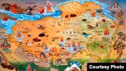 Peta wilayah Tibet