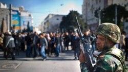 دوشنبه ۱۷ ژانویه، یکی از خیابان های شهر تونس
