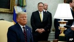 Фото: Президент США Дональд Трамп, Держсекретар США Майк Помпео
