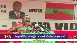 Passation de pouvoir à la tête du parti de l'opposition en Angola