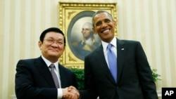奧巴馬與張晉創星期四在白宮會面