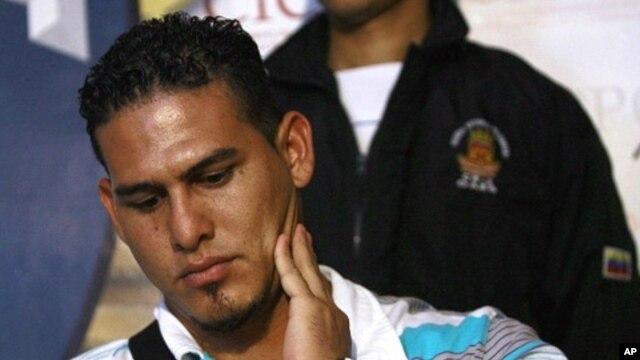 Major League Baseball player Wilson Ramos attends a news conference in Valencia, Venezuela November 12, 2011.