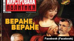 Naslovna strana nedeljnika Ilustrovana politika naišla na osudu javnosti (Foto: Facebook)