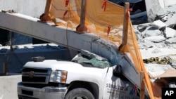 佛罗里达州耗资1420万美元、定于明年投入使用的步行桥坍塌