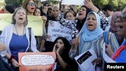 Para perempuan Mesir melakukan aksi protes menuntut keadilan di Kairo (foto: dok).