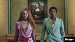 beyonce and jayz louvre