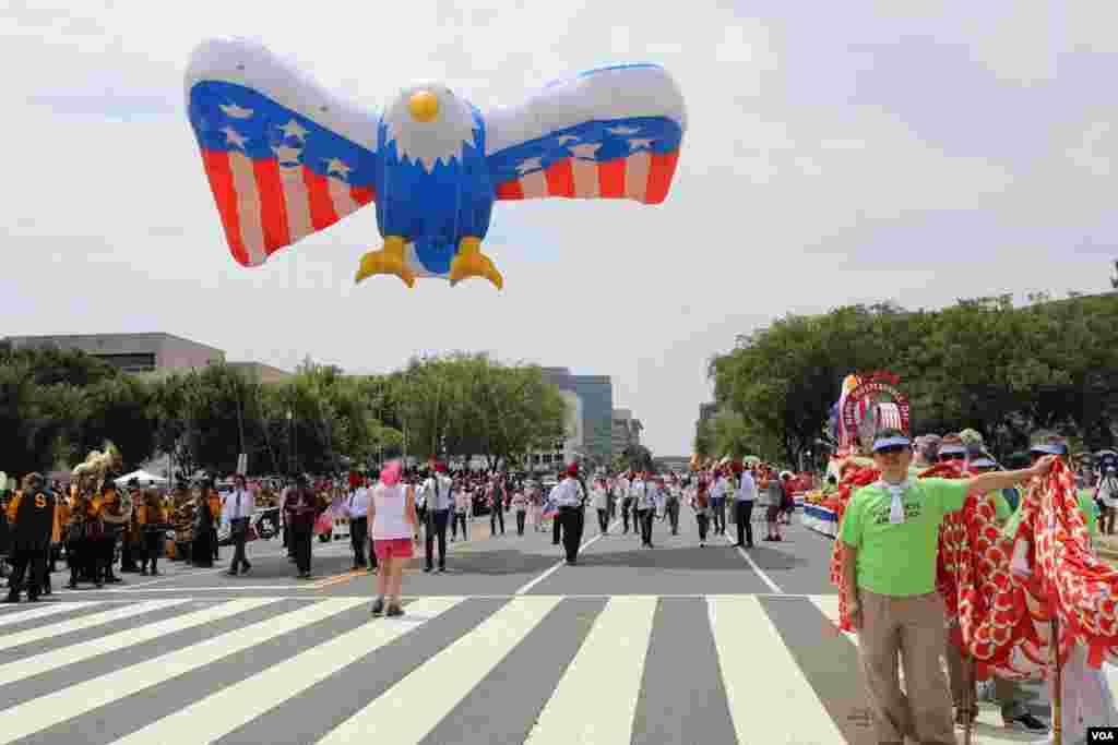 Парад в Вашингтоне по случаю Дня независимости США. 4 июля 2019