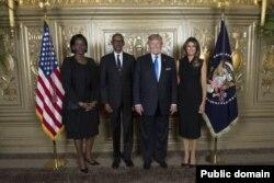 Perezida Kagame na Madamu Jeannette Kagame ubwo baheruka guhura na Donald Trump na Melania Trump i New York mu nama y'Inteko rusange y'Umuryango w'Abibumbye