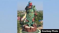 Patung Dewa Kwan Seng Tee Koen atau Kwan Kong, di Klenteng Kwan Seng Bio, Tuban, Jawa Timur. (Foto courtesy: Rumah Bhinneka).