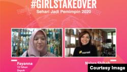 """Fayanna dari Depok, Jawa Barat """"take over"""" akun milik Najwa Shihab (courtesy: Plan International Indonesia)"""