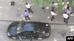 Російські правоохоронці на місці нападу