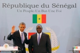 U.S. President Barack Obama participates in a joint news conference with Senegal's President Macky Sall in Dakar, June 27, 2013.
