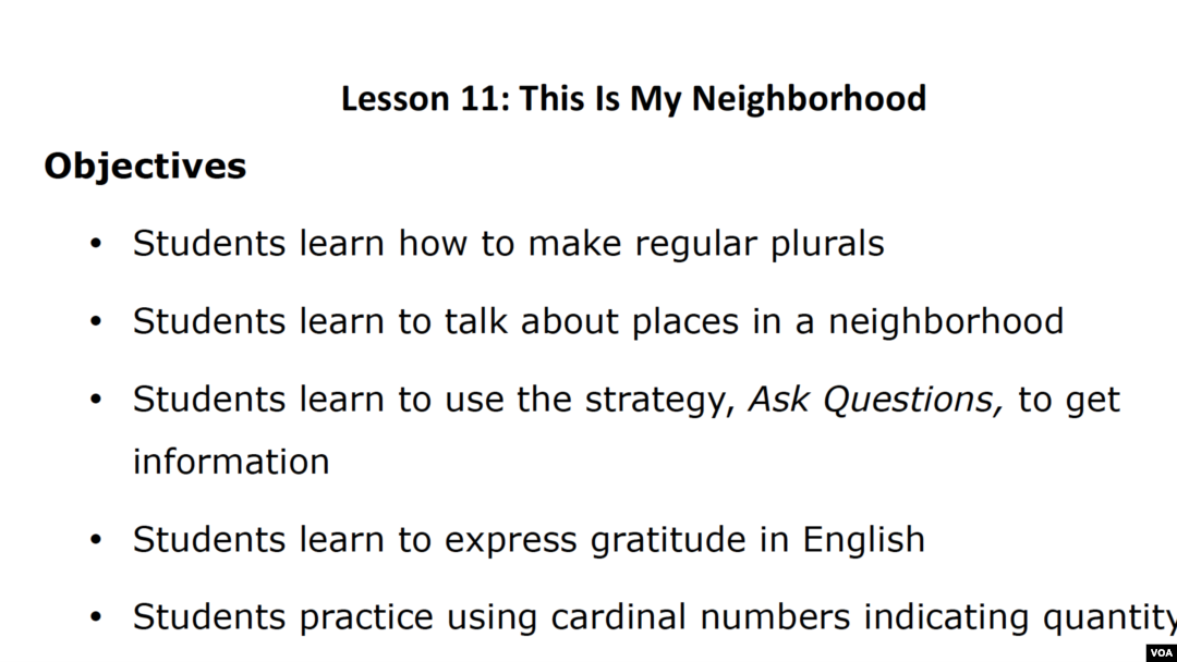 Lesson 11: This Is My Neighborhood