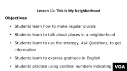 Lesson Plan - Lesson 11: This Is My Neighborhood