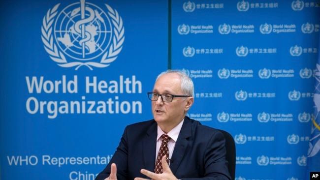 世界卫生组织驻中国的代表高登·加利亚(Gauden Galea)在北京接受美联社专访