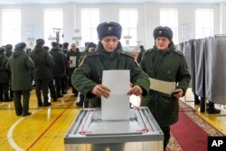 Russia Presidential Election Rostov-on-Don, Russia, Sunday, March 18, 2018