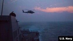 美國海軍2016年12月5日在南中國海巡邏(美國海軍照片)