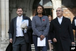 Financial entrepreneur Gina Miller, one of the claimants who challenged plans for Brexit, leaves the High Court in London, Nov. 3, 2016.