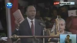 Related video of Kenyatta being sworn in