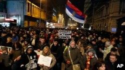 """Arhiva - Sedmi protest """"Jedan od pet miliona"""", u Beogradu, 19. januara 2019."""