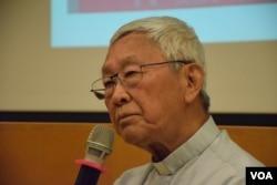 天主教香港教區榮休主教陳日君。(美國之音湯惠芸攝)