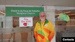 José Santaniello trabalhou como voluntário nas Olímpiadas do Rio 2016