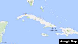 古巴地理位置