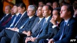 Tổng thống Mỹ Barack Obama và các nhà lãnh đạo thế giới tại Hội nghị thượng đỉnh G20 hồi tháng 11/2014 ở Brisbane, Australia.
