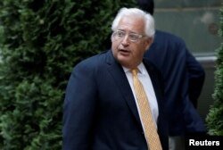 FILE - Attorney David Friedman arrives at a private fundraiser for then-Republican presidential candidate Donald Trump in the Manhattan borough of New York City, June 21, 2016. Friedman is U.S. President Donald Trump's designated Ambassador to Israel.