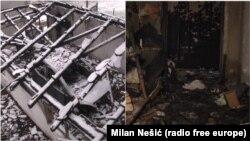 Zapaljena garaža i jedna od soba u kući - posledice napada na Milana Jovanovića (Foto: RSE)