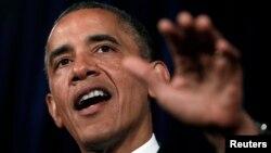 US President Barack Obama speaks during a visit to San Jose, California June 7, 2013